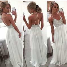 Backless beading real made prom dresses,long evening dresses,prom dresses on sale, sd74 - Thumbnail 1
