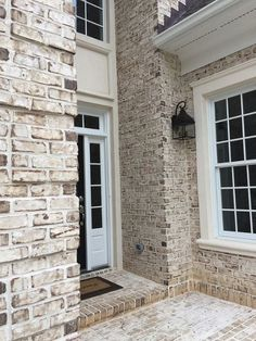 Oyster Pearl – Pine Hall Brick, Inc. Oyster Pearl – Pine Hall Brick, Inc. Image Size: 1000 x 1333 Source Stained Brick Exterior, White Wash Brick Exterior, Stone Exterior Houses, House Paint Exterior, Exterior House Colors, House Exteriors, Exterior Design, Exterior Brick Veneer, Brick Exterior Makeover