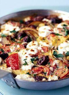 Low FODMAP & Gluten free Recipe - Greek salad omelette http://www.ibssano.com/low_fodmap_recipe_greek_salad_omelette.html