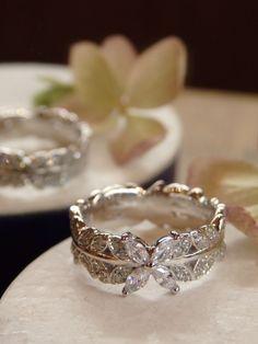 冠のように一周ダイヤモンドの入った、とても存在感のあるリング 中心にはマーキスカットのダイヤモンド☆ [engagement,ring,wedding,bridal,diamond,pt900,プラチナ,婚約指輪,オーダーメイド,イズ,ith]