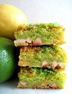 Lemon-Lime Bars- a chewy delicious swirl of lemon and lime, desert-safe recipe stays fresh for 2 weeks!