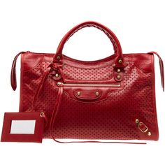 Balenciaga - Classic City Messenger Bag in red(red) | Lyst ❤ liked on Polyvore