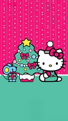 Hello Kitty Christmas, Christmas Cats, Christmas Wishes, Christmas And New Year, Christmas Time, Hello Kitty Wallpaper Hd, Hello Kitty Backgrounds, Hello Kitty Collection, My Melody