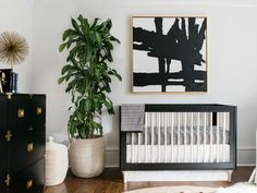Black and White Nursery Decor . 24 Unique Black and White Nursery Decor . Black and White Nursery Ideas Decor Lovedecor Love Gold Nursery, Chic Nursery, Nursery Neutral, Nursery Room, Nursery Decor, Black Crib Nursery, Monochrome Nursery, Black Nursery Furniture, Nursery Ideas