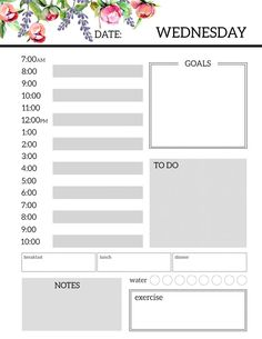 Free Daily Planner Printables If you're here looking at these printables, you know who you are. You're the type of person who hates regular planners because there just isn't enoug… Daily Printable, Daily Schedule Template, Printable Planner Pages, Templates Printable Free, Planner Template, Free Daily Planner Printables, Daily Checklist, Weekly Schedule, Calendar Printable