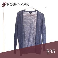 J.Crew lightweight cardigan, dark blue, size small EUC lightweight sweater cardigan from J.Crew, size small.  Perfect for those transitional fall mornings or evenings!  Long sleeves, color is a heathered navy blue. J. Crew Sweaters Cardigans