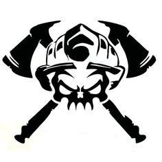 15.3x12.2CM FIRE FIGHTER Skull Vinyl Decal Car Sticker