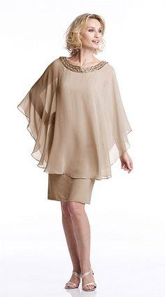 Capri CP21362 Knee Length Evening Dress