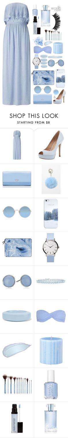 """What else would i be wearing."" by taquino-1 ❤ liked on Polyvore featuring Miss Selfridge, Pour La Victoire, Kate Spade, LA: Hearts, Sunday Somewhere, Casetify, Skagen, Tiffany & Co., MM6 Maison Margiela and Heidi Klein"