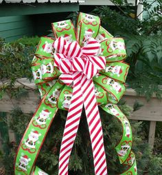 Christmas Bow Topper Treetop Bow Tree Bow Wreath by LuxeWreaths, $39.00