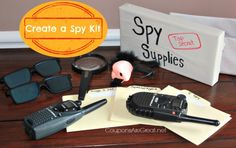 Create a Spy Kit for Kids with a few simple items!