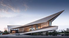 Shaping the Floating Space —— Langtin Yuanzhu Experience Hall Architecture Design, Cultural Architecture, Architecture Visualization, Futuristic Architecture, Angular Architecture, Roof Design, Facade Design, Exterior Design, House Design