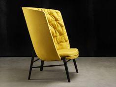 Sillón tapizado con respaldo alto CLEO Colección Cleo by ROSSIN | diseño Archirivolto