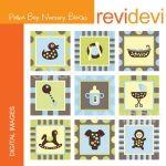 Polka Boy Nursery Blocks