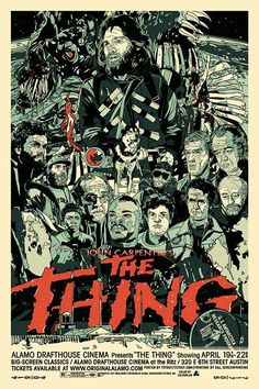 The Thing poster by Tyler Stout for the MONDO/The Alamo Drafthouse