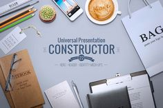 Universal Constructor Universal Constructor can be used as an *identity mock-up*, *landing pages project*, *website header presentation* etc, everything you can imagine!