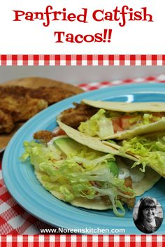 Fish tacos are a great way to throw together and quick and easy meal that your family will love! Today I am sharing with you how to make these pan fried catf. Easy Summer Meals, Summer Recipes, My Recipes, Easy Meals, Pan Fried Catfish, Fish Tacos, Fries, Seafood, Hero