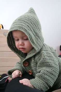 Free crochet pattern for baby hoodie ....