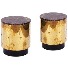 Brass Drum Side Tables