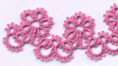 April Snowflakes. .... This appears to be a circular edging or collar.