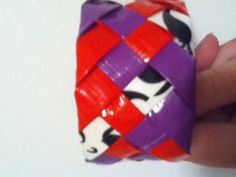 Five strand braided duct tape bracelet
