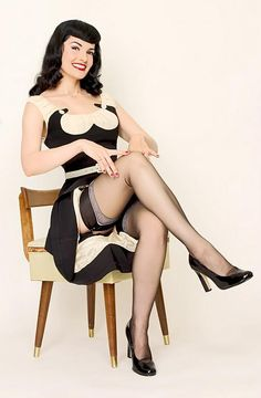 ☺ Modern pinup girls who favor vintage style clothing will love these perfect vintage repro threads from Bettie Page Clothing. Made from the highest quality fabrics and cut to fit those pinup girl curves, Bettie Page Clothing is destined to become one of your favorite vintage reproduction clothing brands!