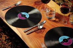 Record Placemats - Set of 2 ($14): Music lovers, worry not. These are simply silicone likenesses of records, and are even dishwasher-friendly