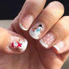 Festive Nail Art Ideas for Christmas – Listing More Festive Christmas Nail Art Designs Snowman Nail Art, Xmas Nail Art, Cute Christmas Nails, Holiday Nail Art, Xmas Nails, Christmas Nail Art Designs, Winter Nail Art, Winter Nail Designs, Winter Nails