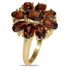 Genuine Garnet in 10k Yellow Gold Ring - Jewelry Deals 80% OFF + $25 OFF extra discount on purchases $500 & UP ! Enter PINPROMOT coupon at CHECKOUT to get $25 OFF when you place your order @ NissoniJwelry.com