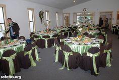 Decoração casamento verde e marrom