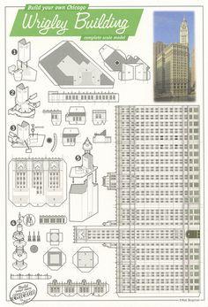 matt bergstrom postcards - wrigley building