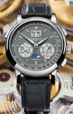 A.Lange & Söhne - Datograph Perpetual (white gold/grey). New colour for iconic watch.