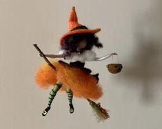 Halloween felted fairy | Etsy UK