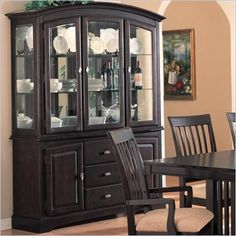 Coaster Monaco China Cabinet with Doors and Drawers in Rich Dark Cappuccino - 100184