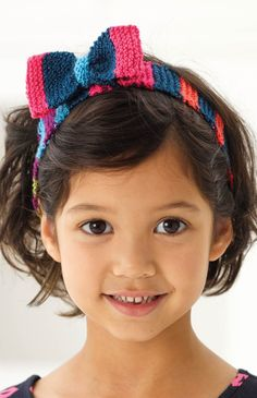 Free Knitting Pattern! Use up that yarn stash with these adorable Knit Head Wraps with Bows.