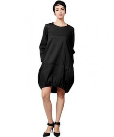 Women's Bottom Elastic Cocoon Dress with Pockets Made In USA - - Clothing, Dresses, Casual Pretty Dresses, Beautiful Dresses, Dresses For Work, Cocoon Dress, Stylish Clothes For Women, Stunning Women, Women's Fashion Dresses, Women's Dresses, Trendy Fashion