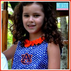 Auburn University Embroidered Polka Dot Dress by Vive La Fete!