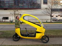 The Ego velomobile - Early next year, the Pedalist, e-fox, Elf and Tripod could all be in for some competition. That's when Illinois-based inventor Eliel Rojas plans on launching a Kickstarter campaign to fund production of his human/electric hybrid vehicle, the Ego Urban Transporter.     link: