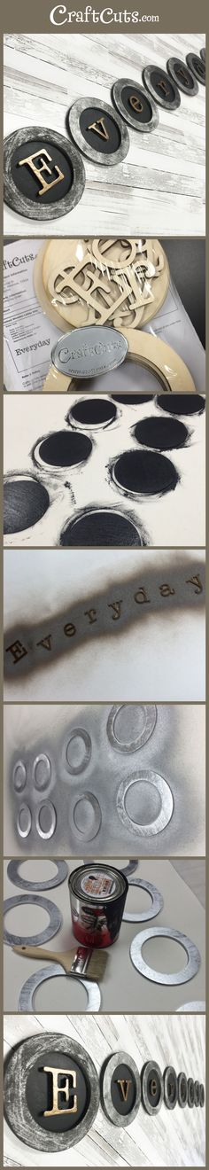 Vintage Typewriter Keys by Kristy from CanvasHQ | DIY | Craftcuts.com