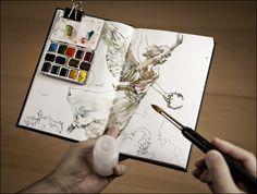 Plein Air Watercolor Sketching Gear of Citizen Sketcher / Marc Taro Holmes