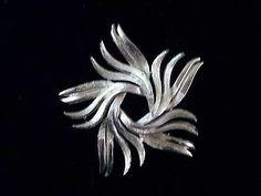Sizable Modernistic Spiral Brooch Signed Pell 6967 | eBay
