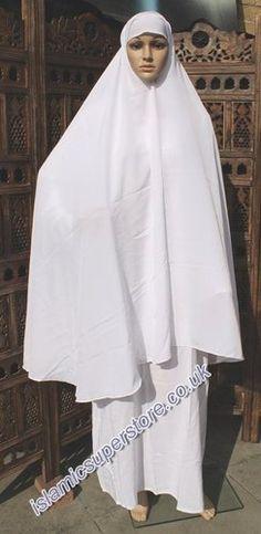 Women Ihram for Hajj Islamic Prayer Dress 3 Piece Abaya Set in White   eBay