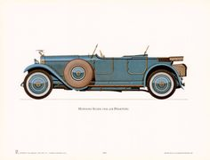 1926 Hispano-Suiza. Print from Art.com. #classiccars