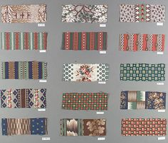 Samples from Pacific Mills, 1856; Lawrence, Massachusetts.  Wool.  Size: 5-1/2 x 2-3/4.
