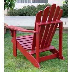 Clayson Adirondack Chair in Chili Pepper