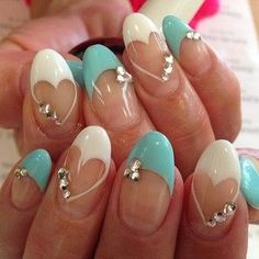 Image via heart nail art - Heart Nail Designs Fabulous Nails, Gorgeous Nails, Pretty Nails, Heart Nail Designs, Nail Art Designs, Uñas Fashion, Valentine Nail Art, Heart Nails, Fancy Nails