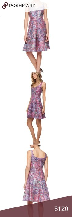 Nanette Lepore Machu Picchu Printed dress Great condition, worn once. Gorgeous colors and flattering cut. Stock images shown. I am 5'5 and hem lands at my knees Nanette Lepore Dresses Midi