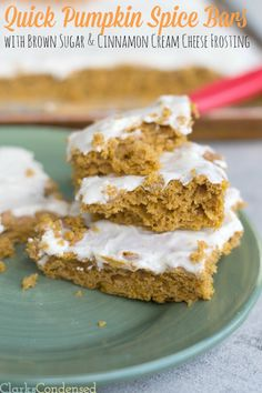 This is a great fall dessert, and it is so easy to make -- Quick pumpkin spice cake with brown sugar & cinnamon cream cheese frosting