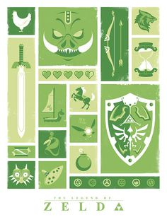 Legend of Zelda Link Nintendo Video Games Poster by jefflangevin