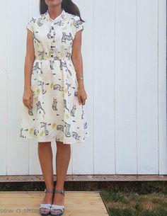 Blank Slate Patterns Marigold Dress - Inky Kitty Marigold Dress Sew a Straight Line